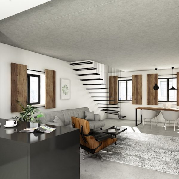 Alcantara31 - 3D - View Living Room Duplex